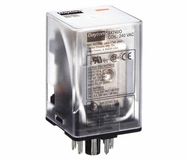 Octal Relay 8 Pin DPDT 10 Amp 240 VAC