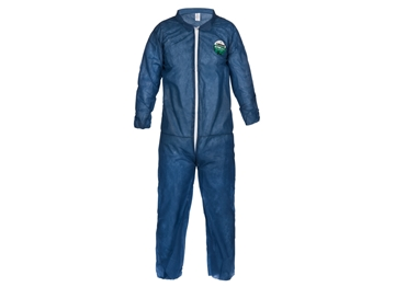 Disposable Poly Coveralls (Navy Blue) - Lightweight
