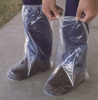 Plastic Boot Covers with Elastic (3 mil)
