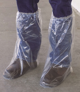 Plastic Boot Covers with Elastic (6 mil)