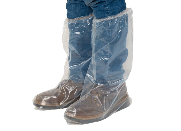 Plastic Boot Covers with Elastic