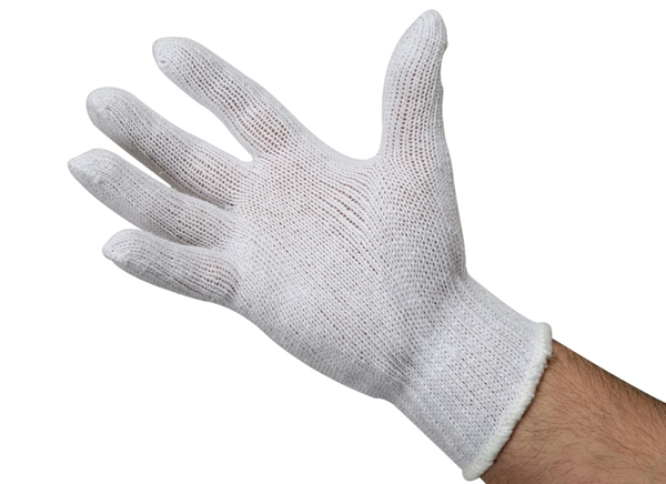Cotton/Polyester String Knit Gloves - 12 Pack