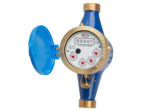 Picture of Water Meter w/ Couplings - No Pulse
