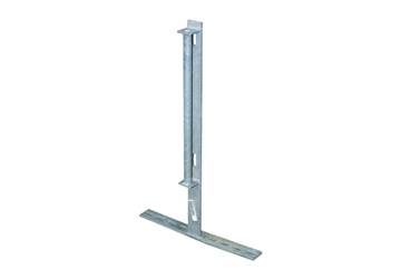 Picture of 29'' flatbar Post W/19'' foot, Gate Clips And Pipe