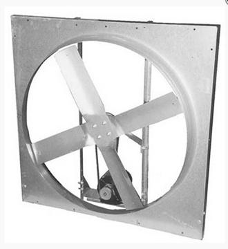 """Picture of Fan 36"""" 1/2HP 230/460V 50Hz 3P W/ Wall Housing & Shutter"""