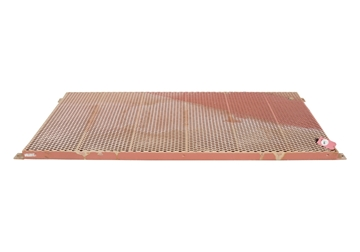 """Picture of Flooring PVC Coated Exp Metal 36-3/4"""" X 84"""" w/ Feet & Holes"""