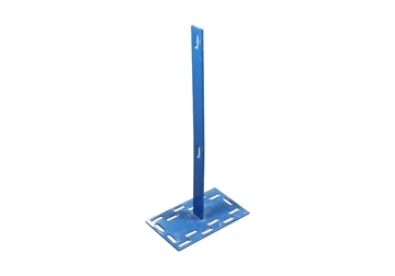 """Picture of 29"""" Flatbar Post With 8"""" X 13"""" Plate"""