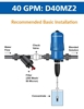 Dosatron® D40MZ2 Medicator Recommended Installation Graphic