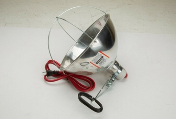 Heat Lamp Holder 18/2 SJT 105 C 6 ft Cord Lamp W/Clamp- BS-104