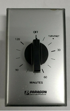 Paragon SWP2H Timer Interval Type 2 Hour - Brushed Aluminum face