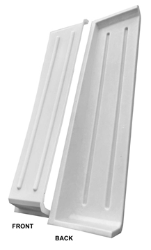 Picture of White Poly Curtain Pockets - Pair