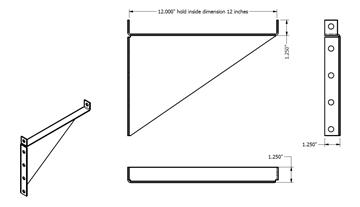 Galvanized Metal Shelf Bracket